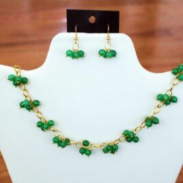 Green Jade Necklace & Earrings Set