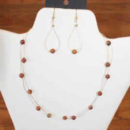 Agate Necklace & Earrings Set